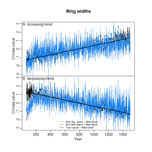Ring widths with subfossil longer longevity