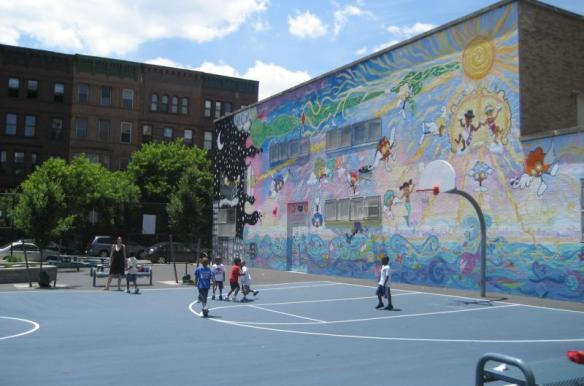 Playground and mural