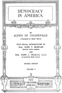 Tocqueville Vol 2 frontis